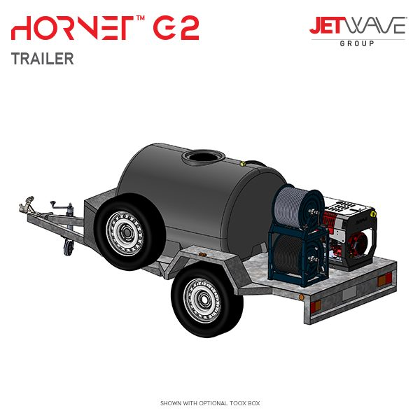 JetWave Hornet G2 Trailer High Pressure Water Cleaner
