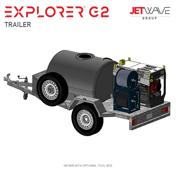 JetWave Explorer G2 Trailer High Pressure Washer
