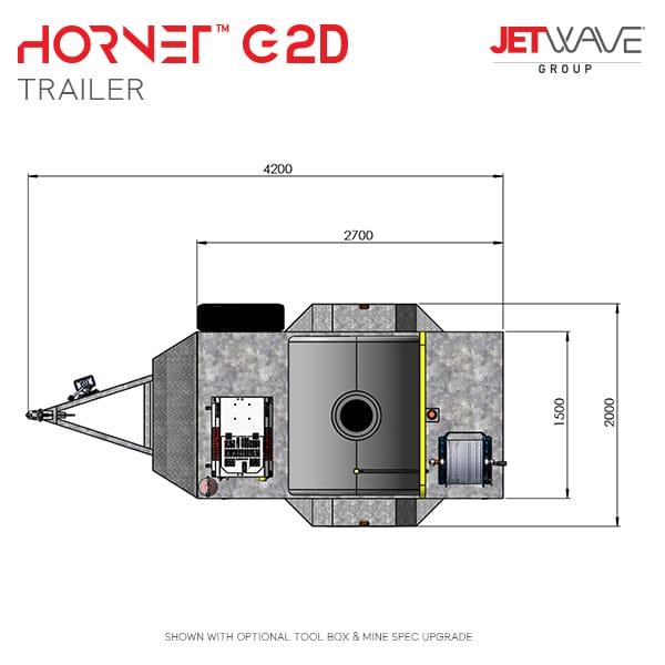 Hornet G2D Trailer minedim